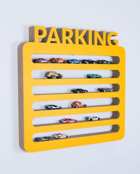 Półka na resoraki PARKING | żółty