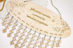 Kalendarz urodzin, kalendarz rodzinny