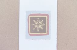 Kartka świąteczna płatek śniegu 23