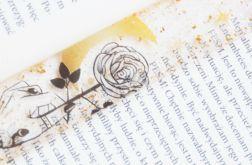 Zakładka do książki - dziewczyna z różą