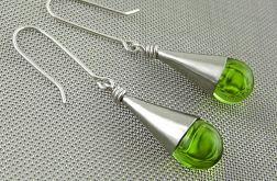 Zielone krople - kolczyki