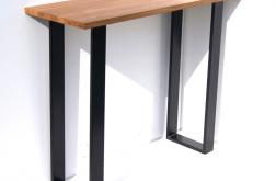 Konsola loft stal i dąb stół dębowy CLASSIC