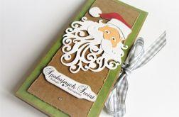 Czekoladownik-Boże Narodzenie Mikołaj zieleń
