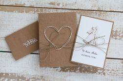Oryginalna kartka ślubna i pudełko a8