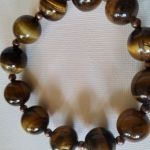 Bransoletka ze złotego tygrysiego oka  - Niesamowite kamienie wysokiej jakości