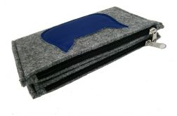 Wallet with blue cat