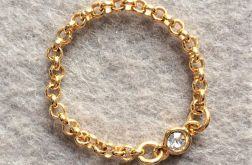 Seven Heaven gold pierścionek na łańcuszku