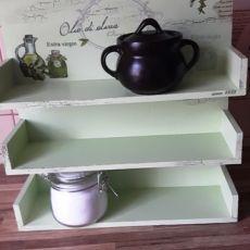 Półka (z 3 półkami) do kuchni  oliwki 3