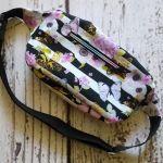 Nerka torebka na biodro w kwiaty