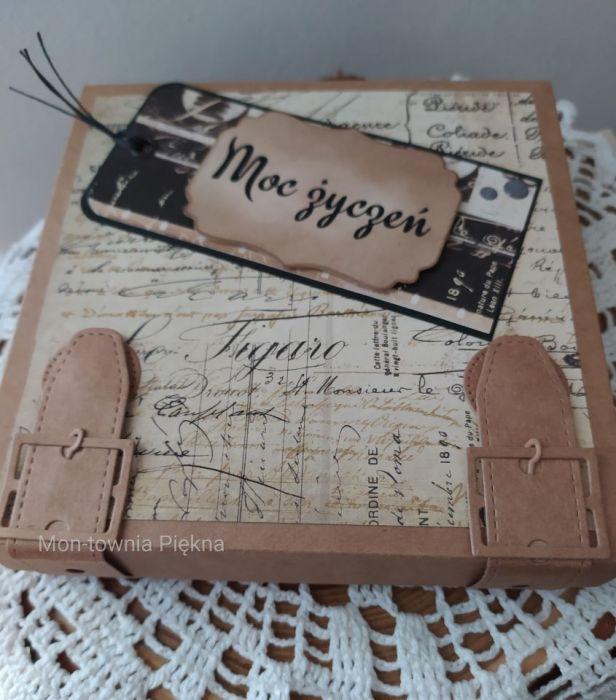 Kartka urodzinowa męska pachnąca kawą - Pudełko na kartkę