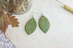 Kolczyki zielone liście