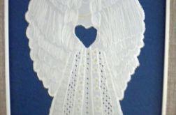 Pergaminowy anioł-obrazek