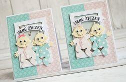 Kartka z okazji narodzin bliźniaków