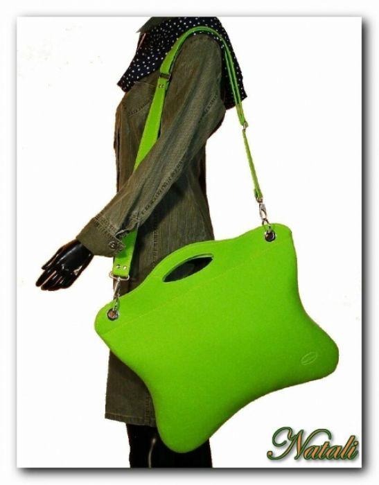 Oryginalna, uniwersalna zielona neonowa torba