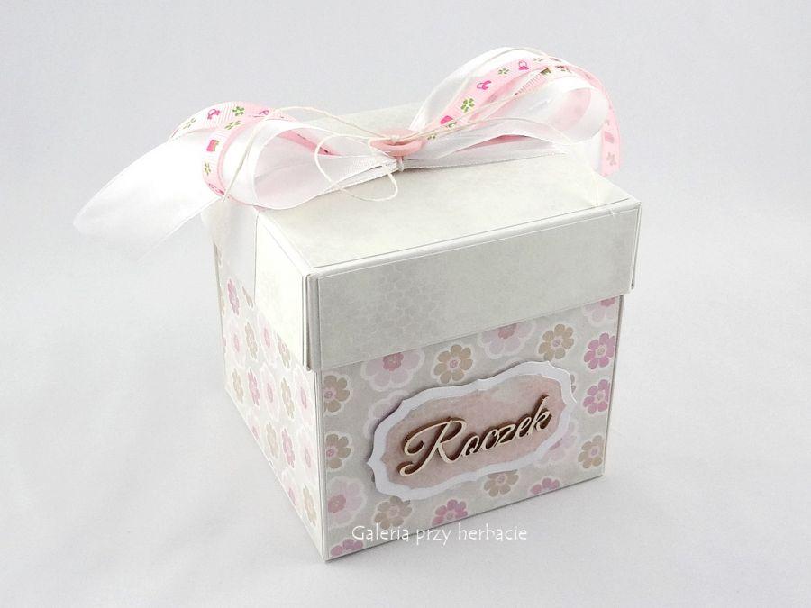 Pudełko, exploding box na roczek dla dziewczynki