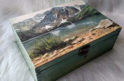 duża szkatułka z widokiem na Morskie Oko i Tatry