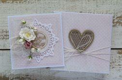 Kartka na ślub z pudełkiem - zestaw 2