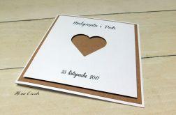 Zaproszenia ślubne kwadratowe serce