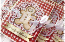 Kartka świąteczna z piernikiem