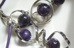 Kule ametystu, komplet biżuterii