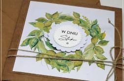 Ślubna kartka z wieńcem