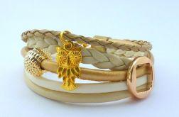 Złoto - beżowa sowa