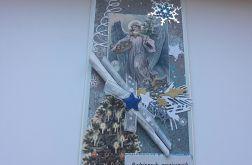 Kartka Boże Narodzenie z aniołem 4