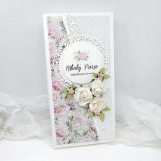 Romantyczna kartka na ślub w pudełku DL