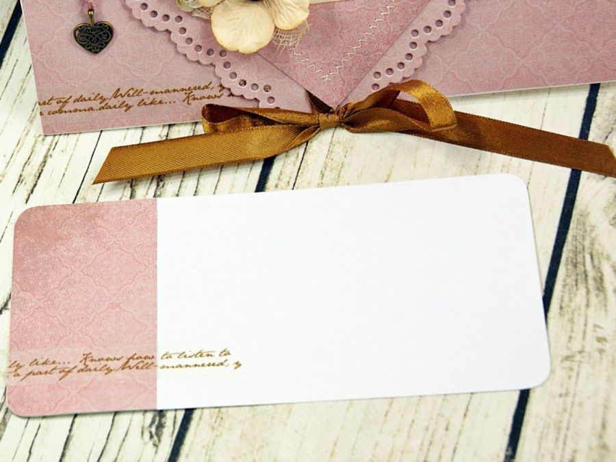Kopertówka z okazji ślubu- retro romantyczna -