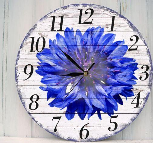 Zegar Ścienny Kwiaty Chaber