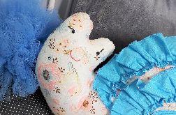Poduszka Ślimak Niebieski Kwiatki