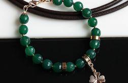 Zielona w złocie II bransoletka