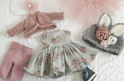 Ubranka dla lalki, sukienka,sweter,czapka