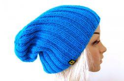 turkusowa czapka unisex