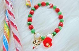 Bransoletka świąteczna renifer