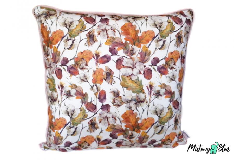 Dekoracyjna poduszka ~ jesienne liście