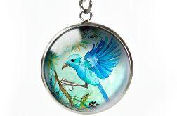 Jungle bird naszyjnik z ilustracją