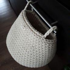 Koszyk ze sznurka z uchwytami