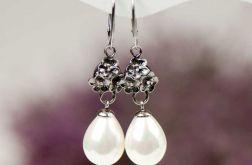 Eleganckie kolczyki z perłami model Erwina