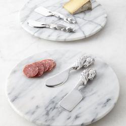 Taca do potraw z marmuru Bianco Carrara 30 cm