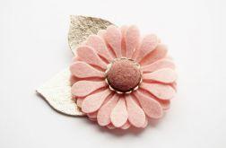 Spinka do włosów kwiat pudrowy róż