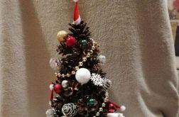 Dekoracja choinka świąteczna stroik 35 cm