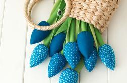 TULIPANY, niebieski bawełniany bukiet