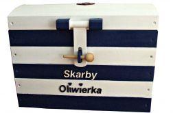 """Skrzynia kufer na zabawki """"Nautical"""" ŚREDNIA"""
