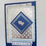 Kartka ślubna - w srebrze