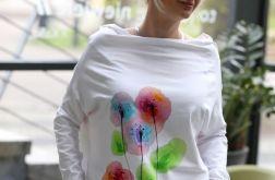 Bluzka oversize PASTELOWO biała