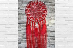 Czerwony serduszkowy łapacz snów AG76