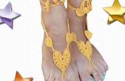Ozdoba na stopy - żółte mini sandałki ;o)