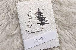 Kartka Bożonarodzeniowa gesso silver 2