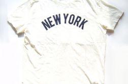XL biały t-shirt z napisem NEW YORK